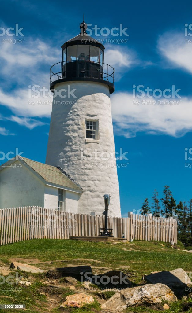 Stone Tower of Pemaquid Point stock photo