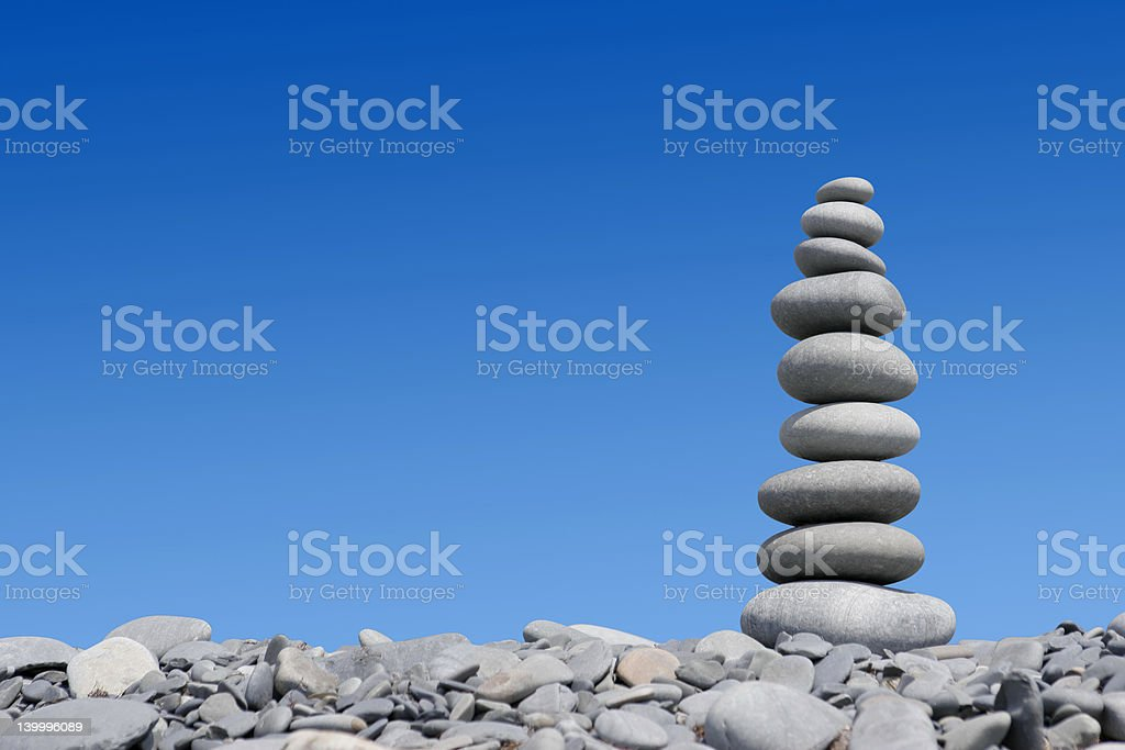 Stone tower stock photo