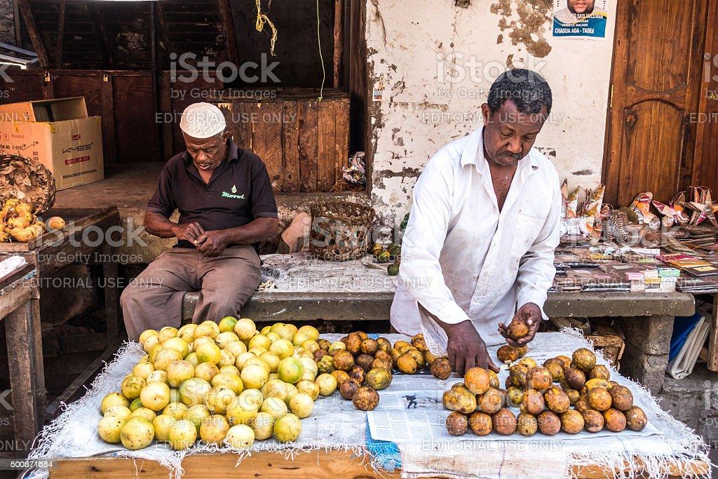 Stone Town Market stock photo