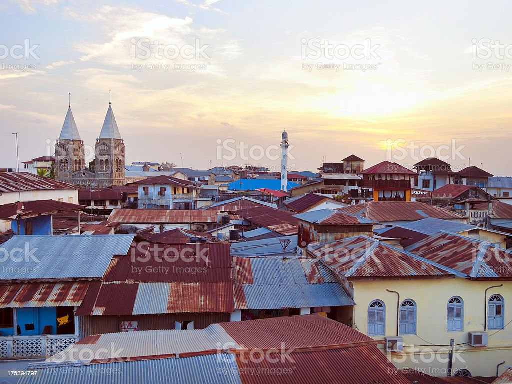 Stone Town Roofscape stock photo