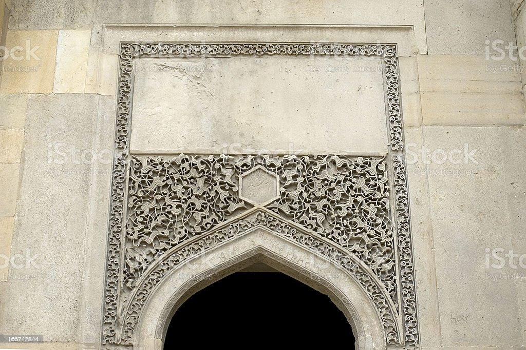 stone tracery in Baku royalty-free stock photo