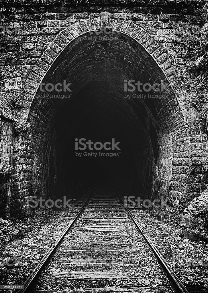 stone tunnel stock photo
