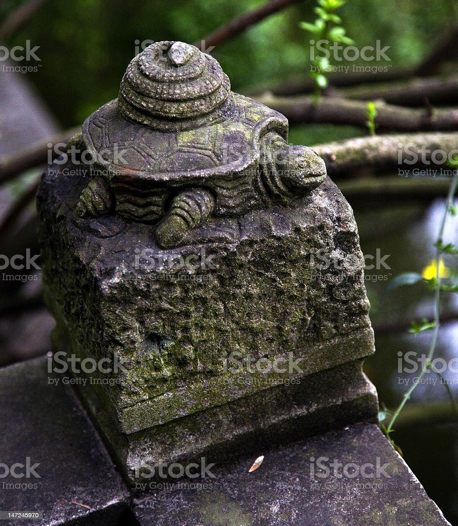 Stone Turtel on Wall Wuhou Three Kingdoms Chengdu Sichuan China stock photo
