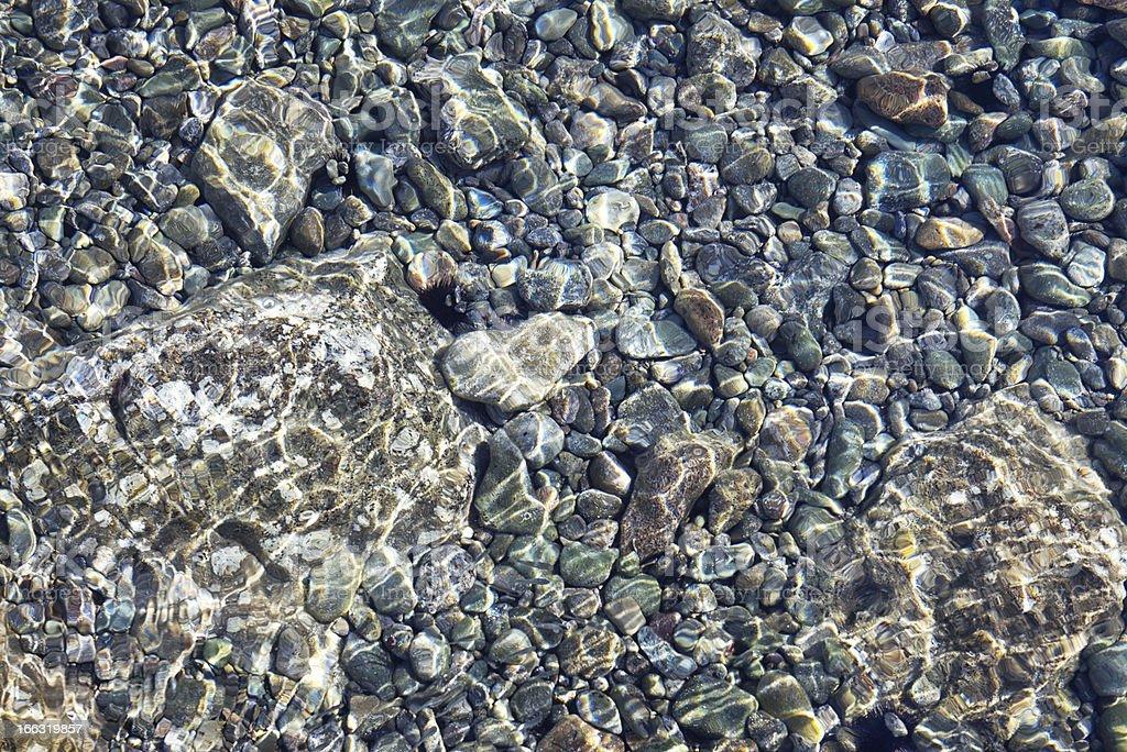 stone underwater stock photo