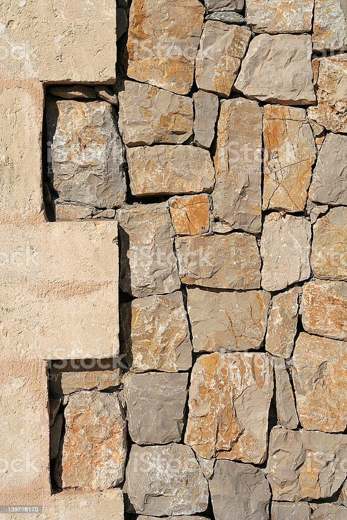 stone wall 1 portrait royalty-free stock photo
