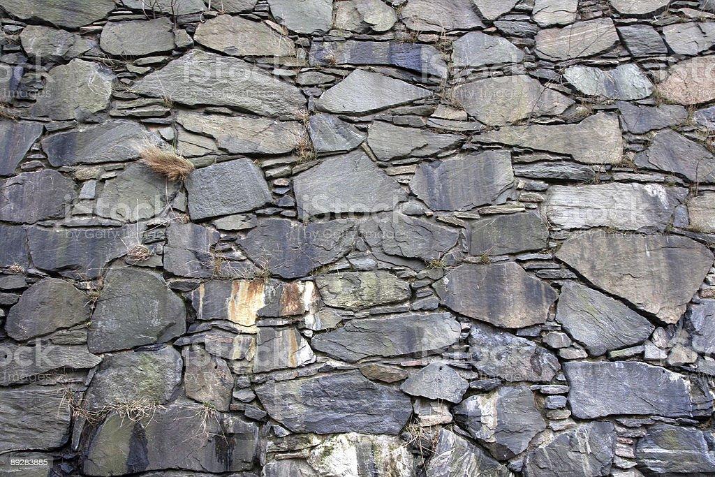 Stone wall 2 stock photo