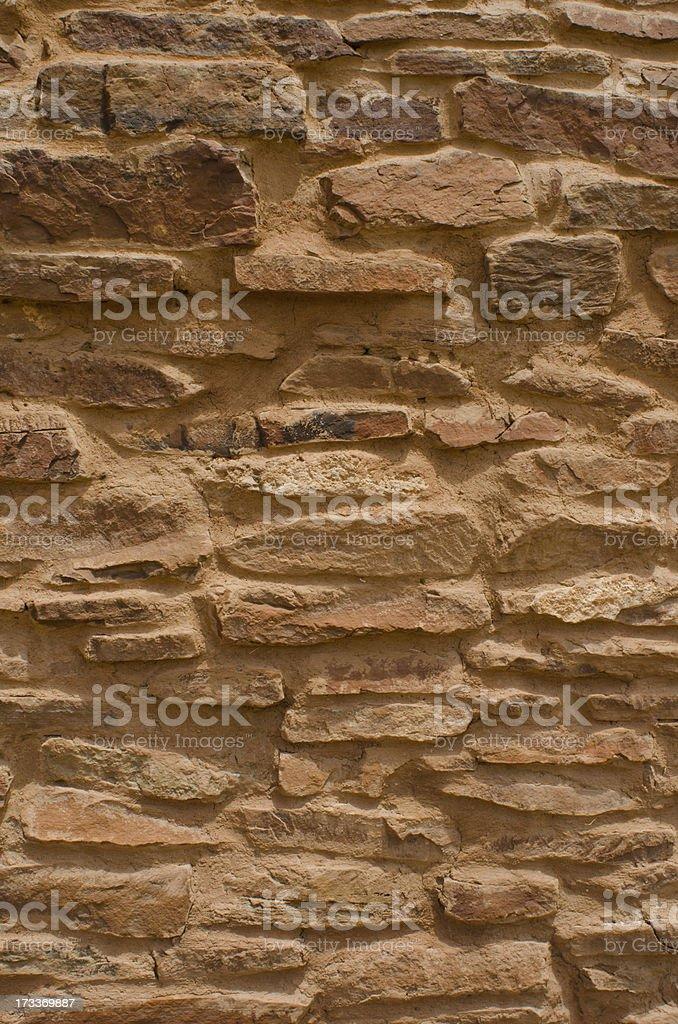 Stone Wall at Quarai Ruins of Salinas Pueblo Missions Nati stock photo
