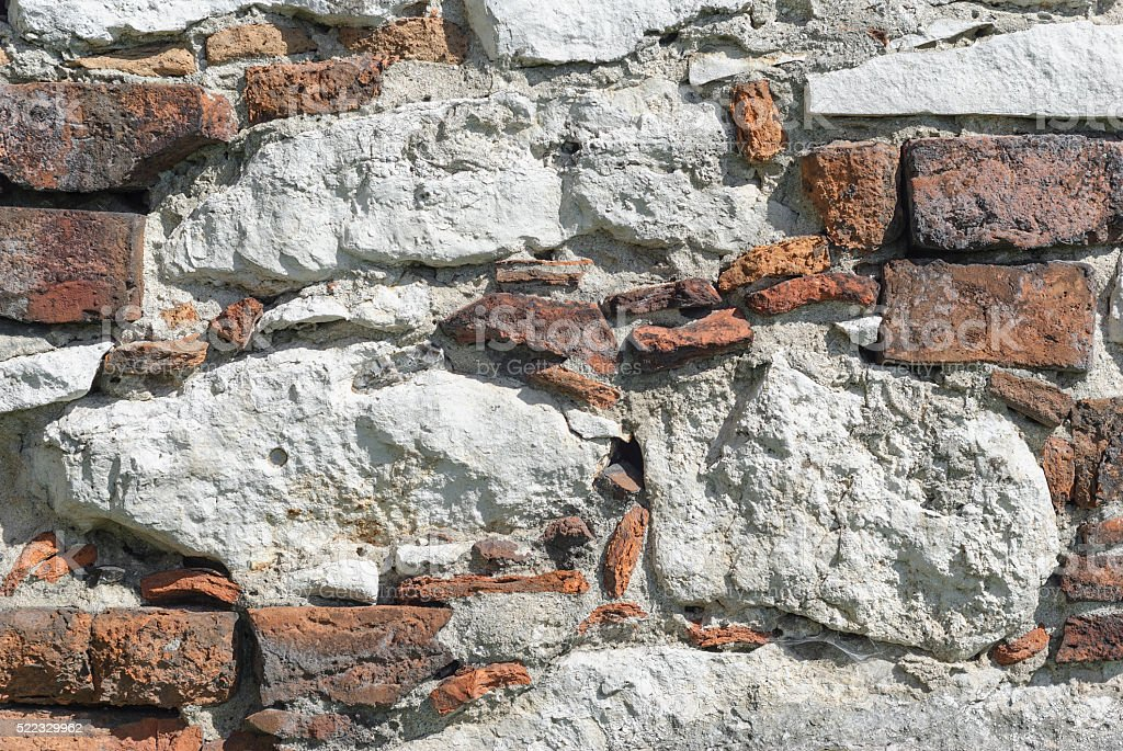 石の壁。れんが壁ます。 ロイヤリティフリーストックフォト