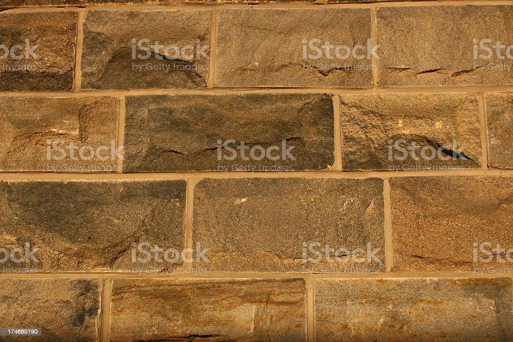Stone Wall, British House stock photo