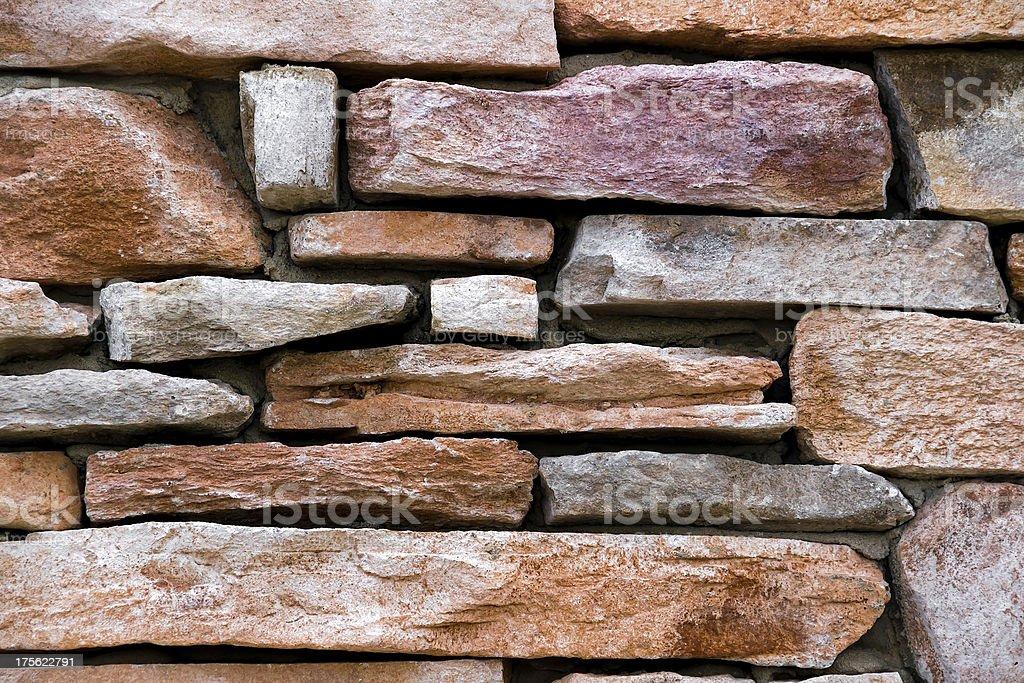 Muro di pietra in primo piano foto stock royalty-free