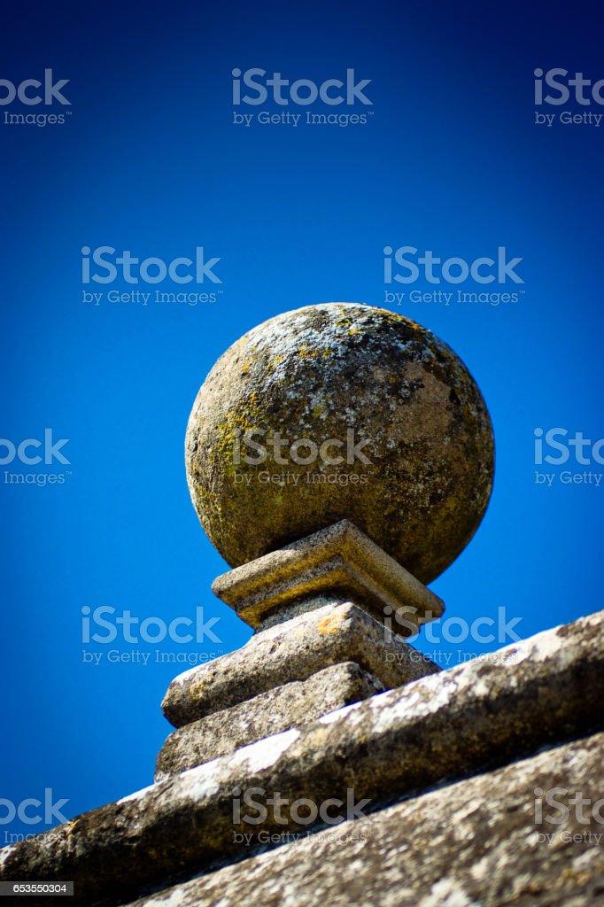 Stone wall decoration Huntingdon stock photo