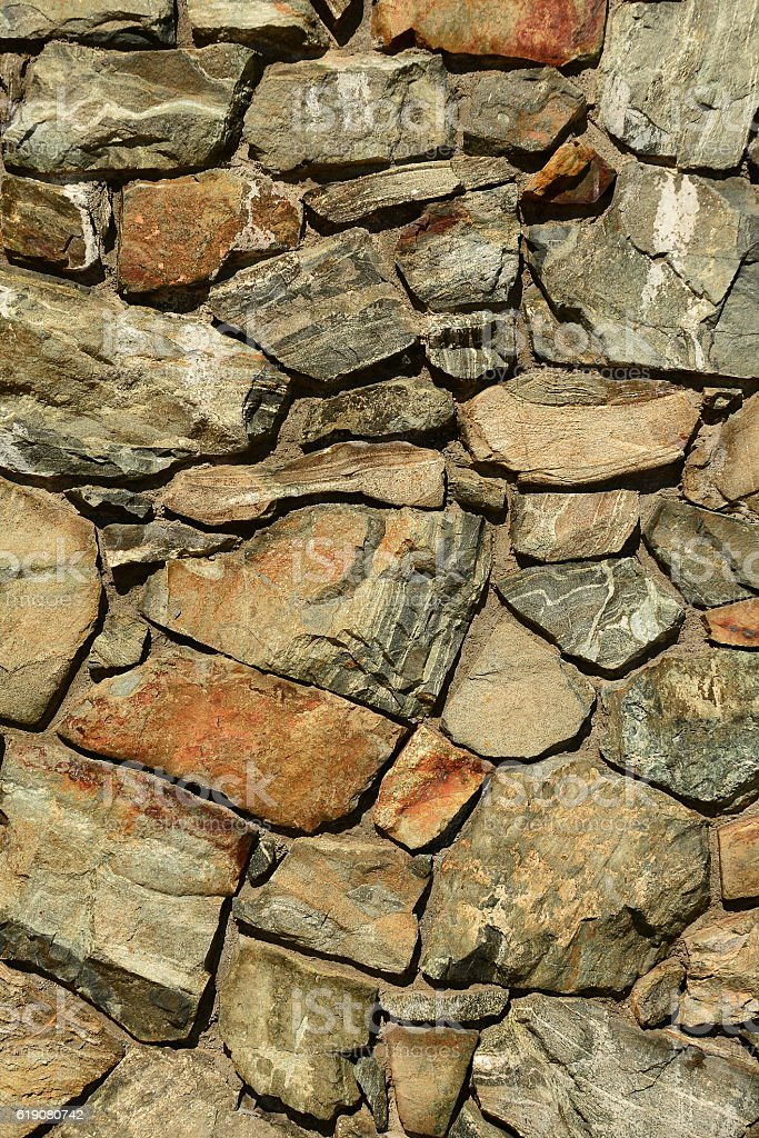 Stone wall design stock photo