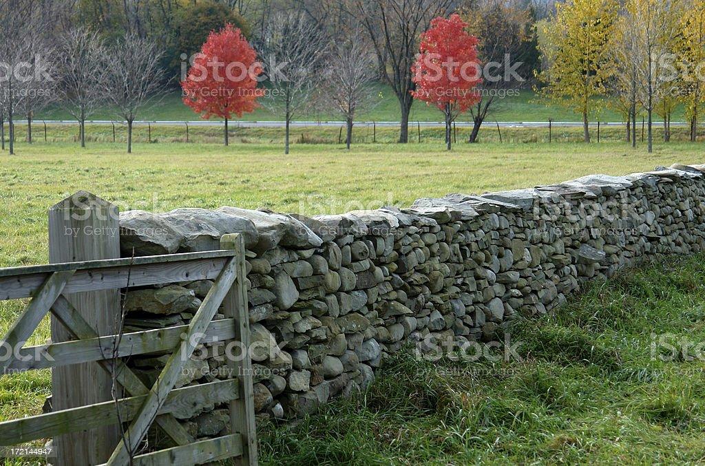 stone wall field royalty-free stock photo