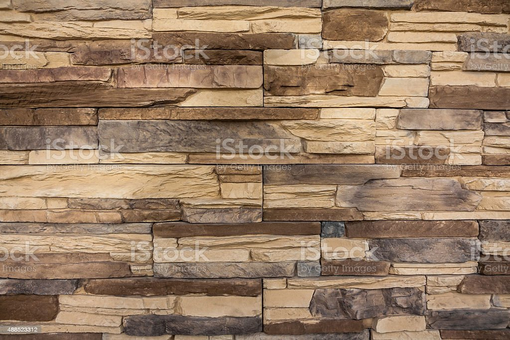stone wall, flat stacked background and texture stock photo