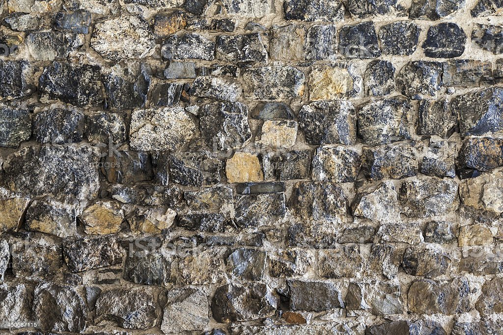 Stone wall, flat stacked background and texture - Stock Image royalty-free stock photo