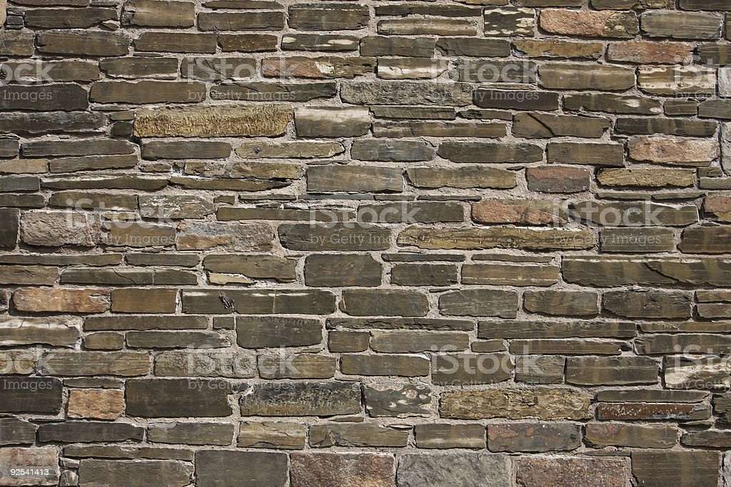 Stone Wall from 18th Century Building stock photo