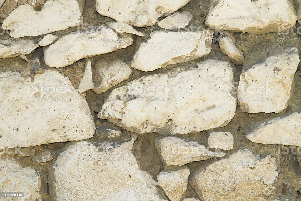stone wall from village house background and texture royalty-free stock photo