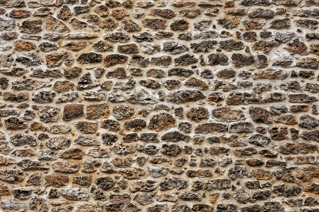 Stone wall in Paris royalty-free stock photo