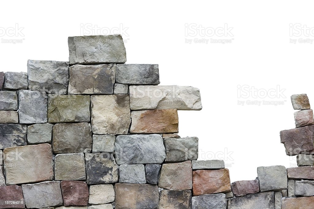 Stone Wall in the Making, stock photo