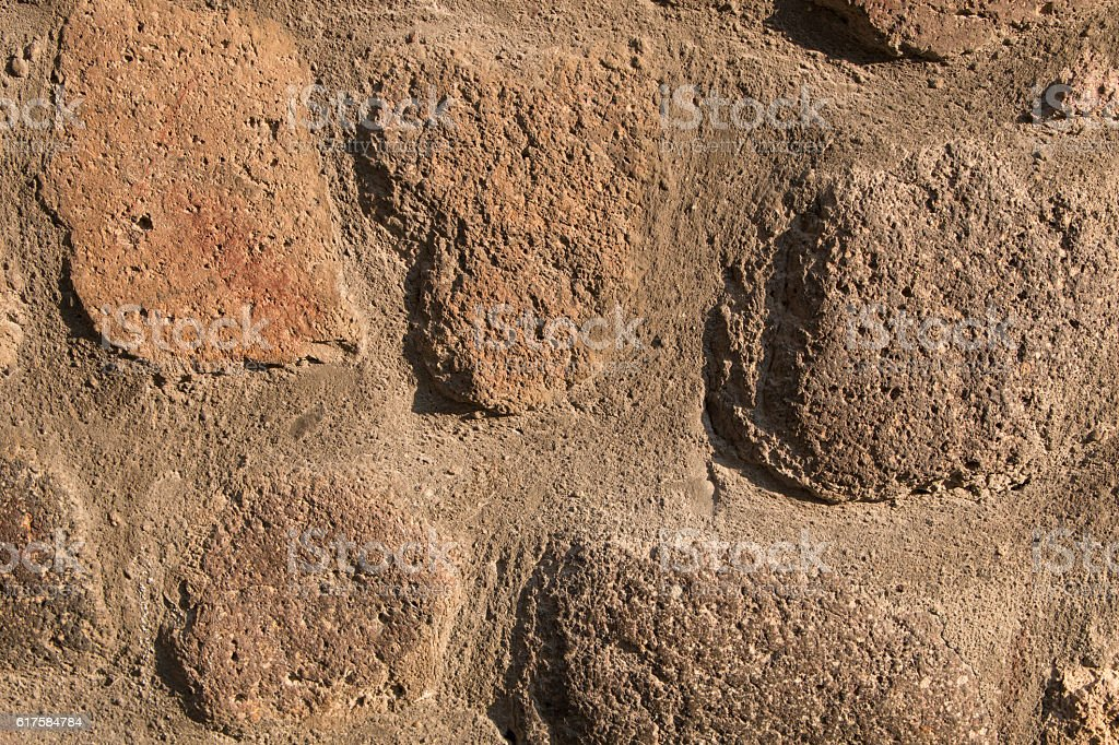 stone wall pattern brown color of modern style stock photo
