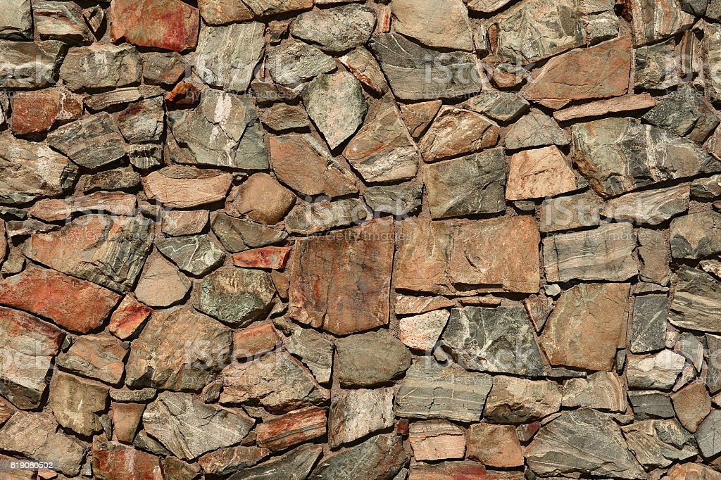 Stone wall pattern design stock photo