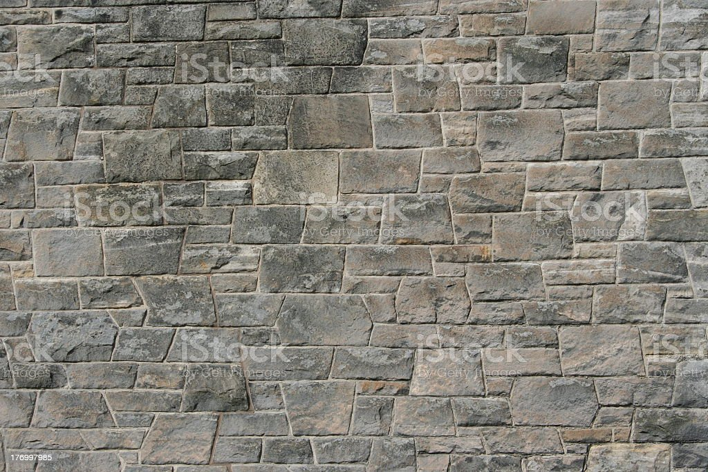 Stone wall photo for pattern and background stock photo