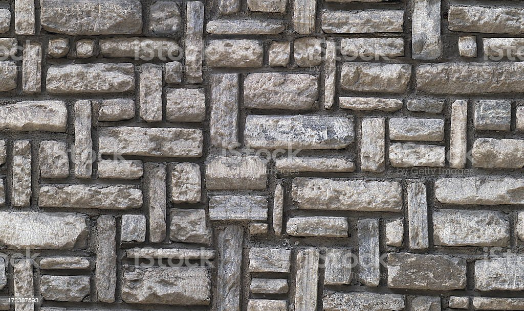 Stone wall - seamlessly tileable texture pattern royalty-free stock photo