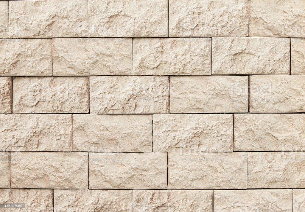 Stone wall with bricks. stock photo
