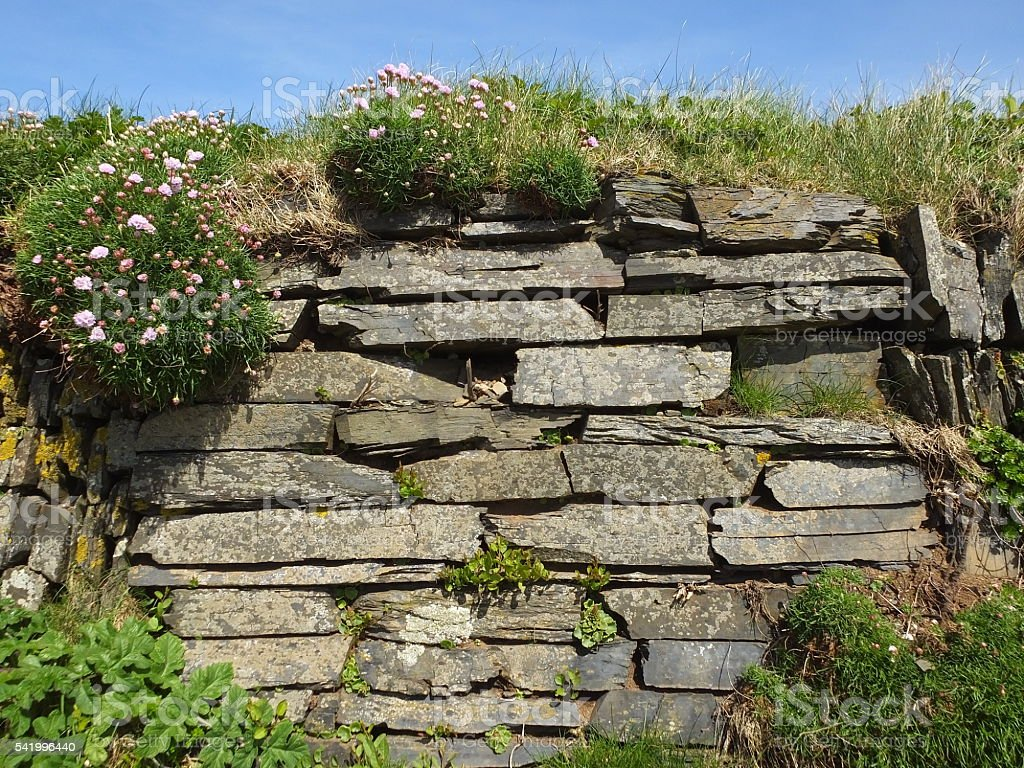 Stone Walls  018 stock photo
