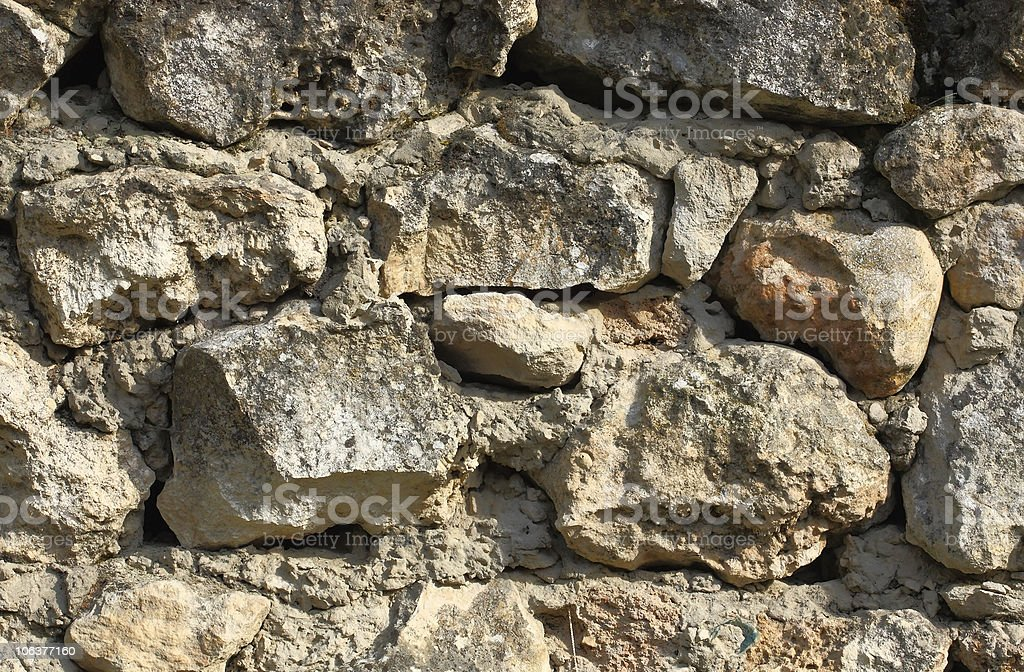 Stone walls in the city-fortress stock photo