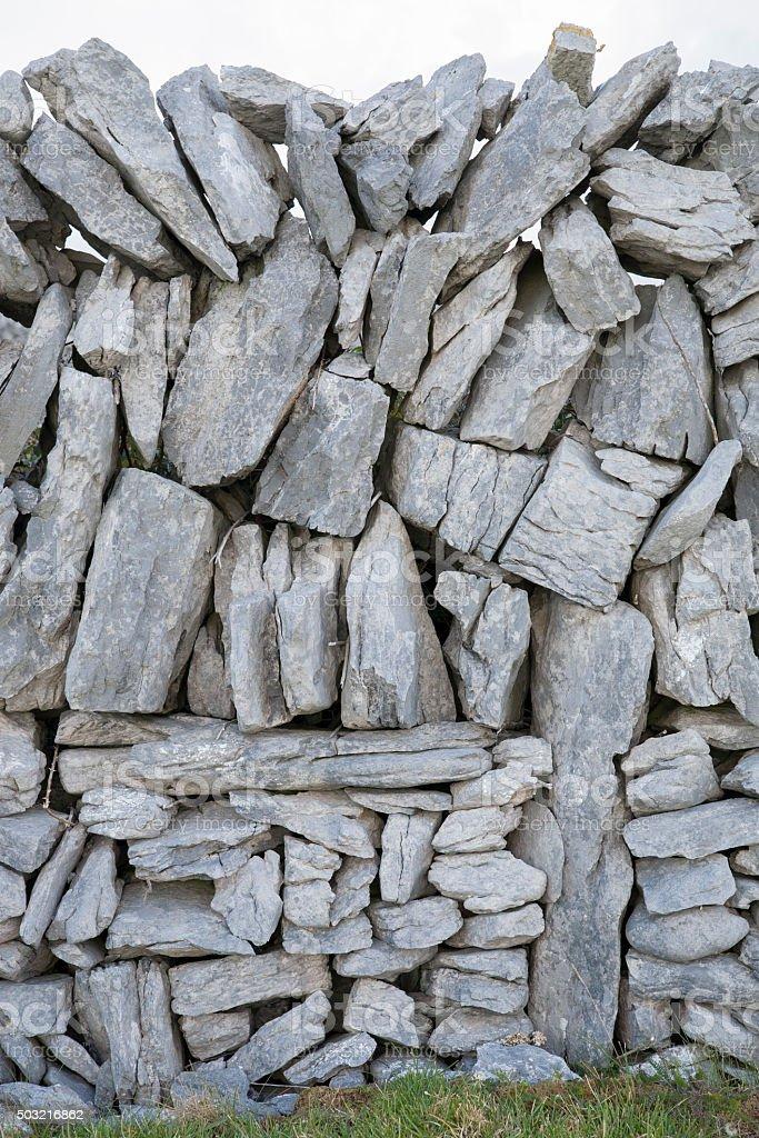 Stone Walls on Inishmore; Aran Islands stock photo