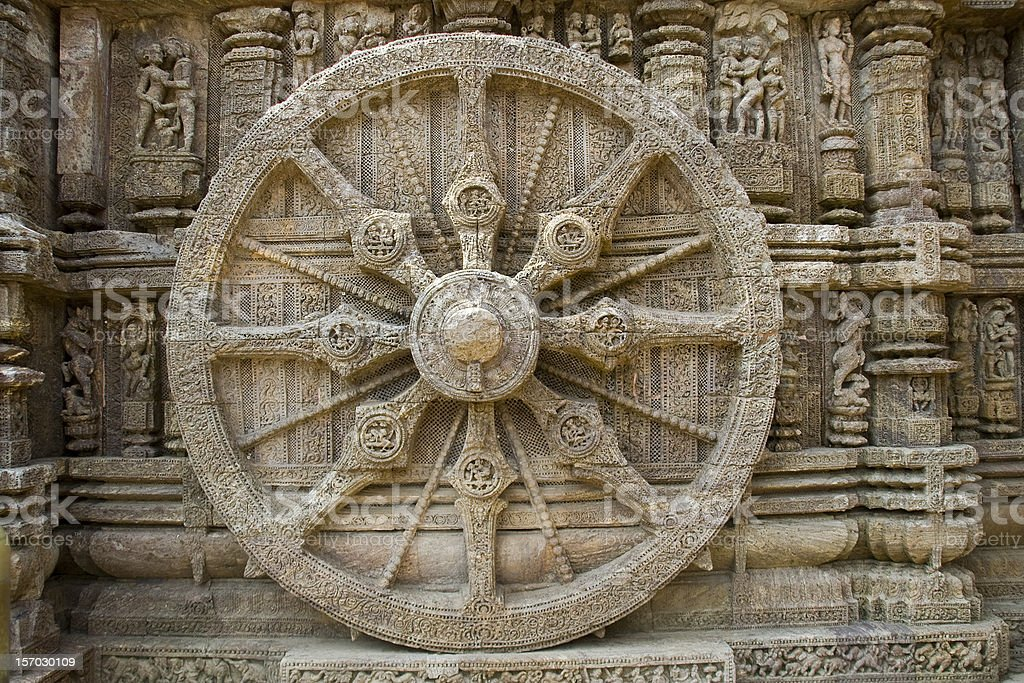 Stone Wheel at Sun Temple royalty-free stock photo