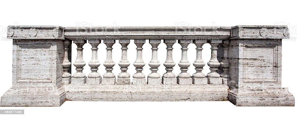 Stone White Baluster stock photo