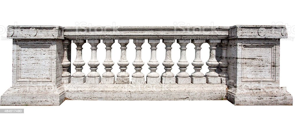 Stone White Baluster stock photo