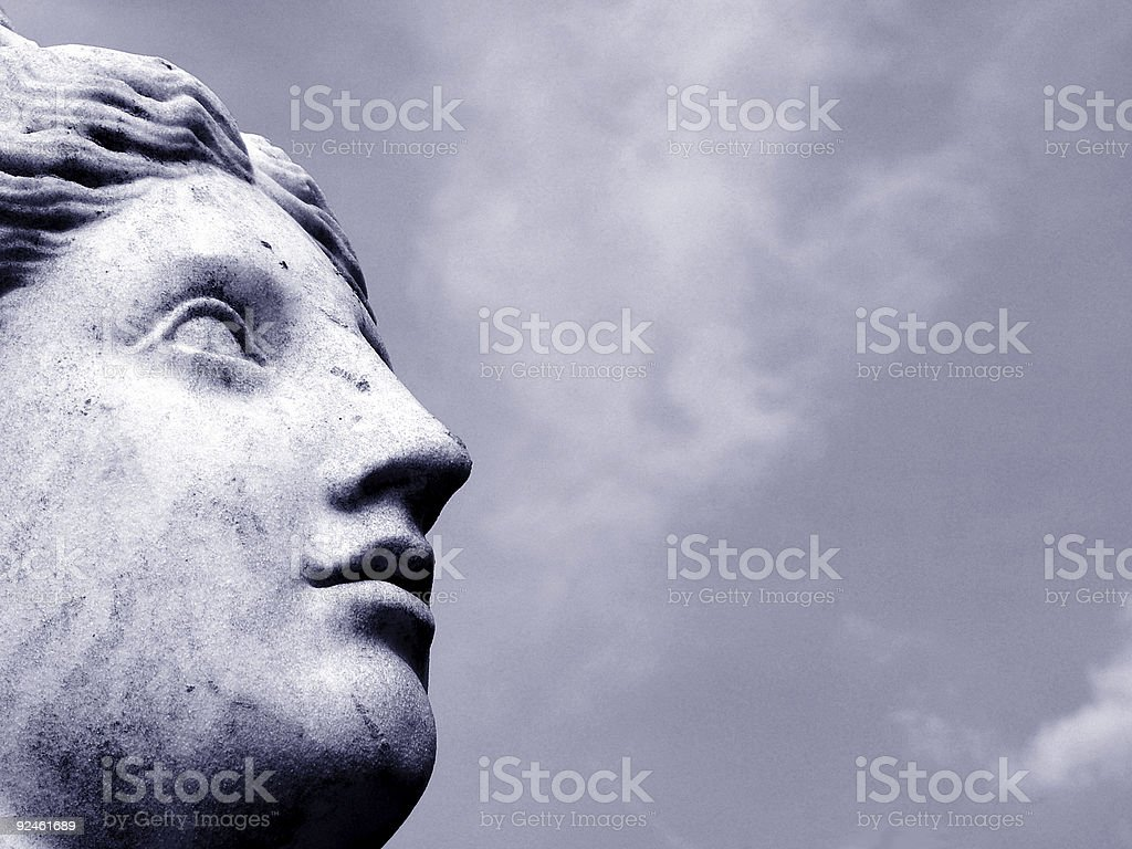 Stone woman royalty-free stock photo
