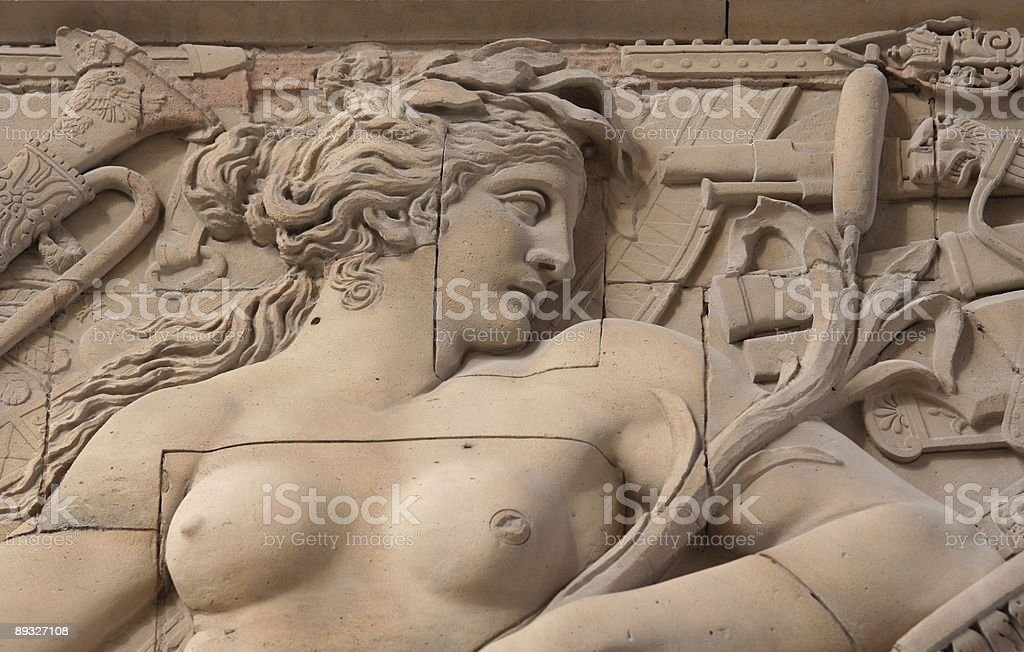 Stone woman profil royalty-free stock photo