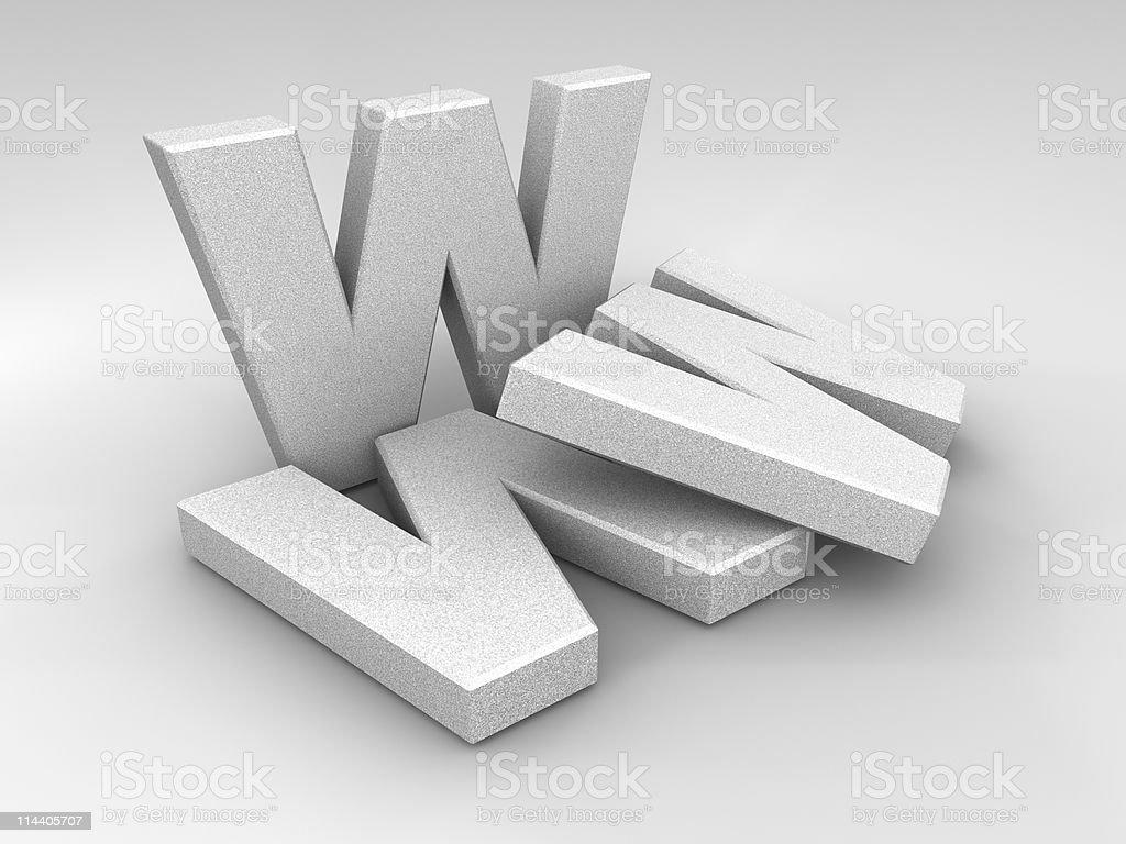 Stone WWW royalty-free stock photo