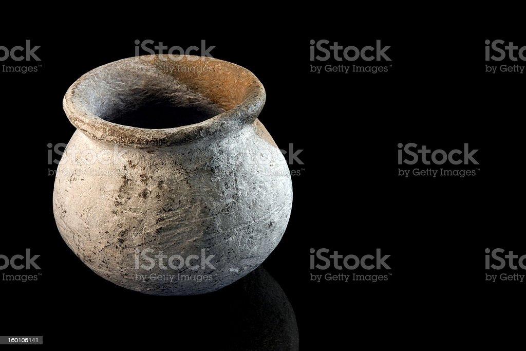 Stone age Tongeschirr Einmachglas Lizenzfreies stock-foto