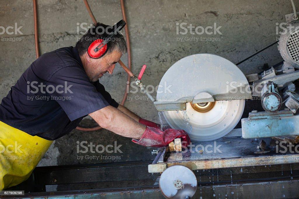 Stonecutter stock photo