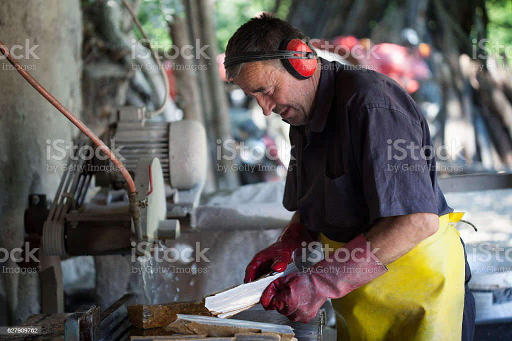 Stonecutter stock photo