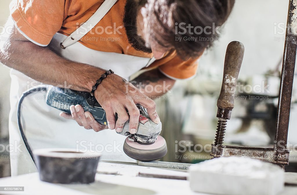 Stonecutter's Workshop stock photo