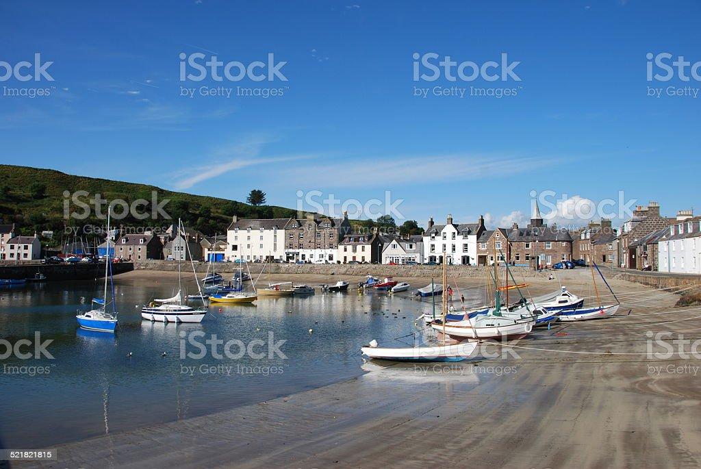Stonehaven Harbour stock photo