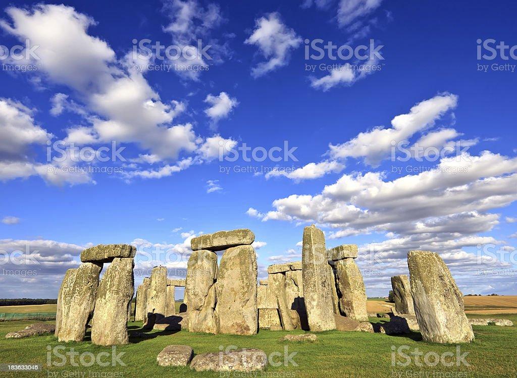 Stonehenge ancient prehistoric stone monument near Salisbury, Wiltshire stock photo