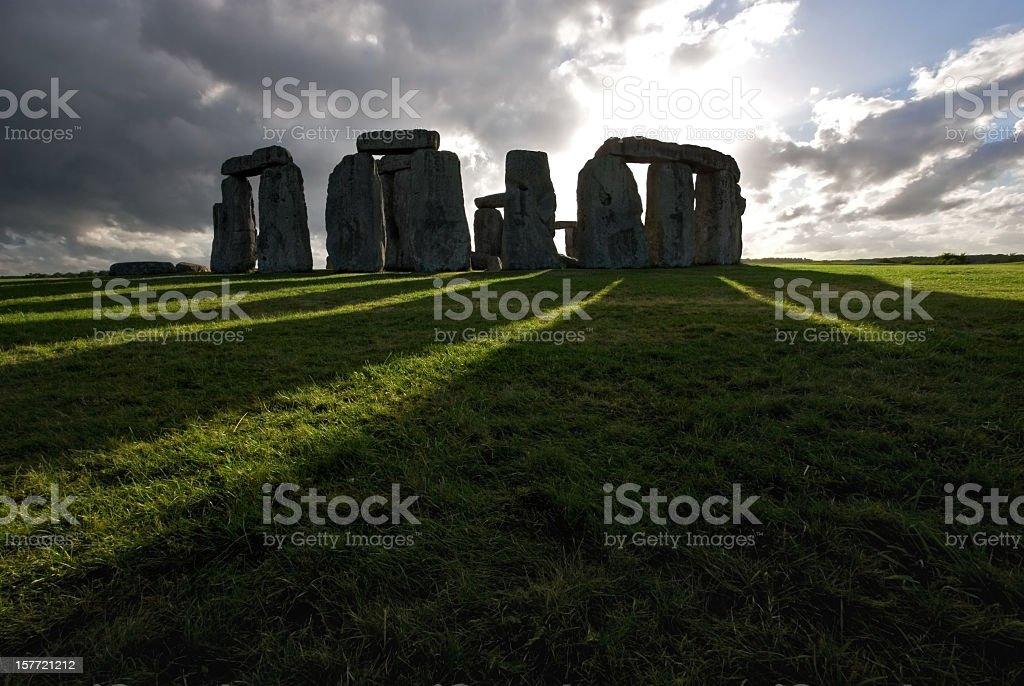 Stonehenge and shadows royalty-free stock photo