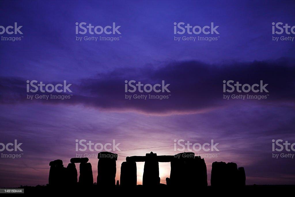 Stonehenge at sunset royalty-free stock photo