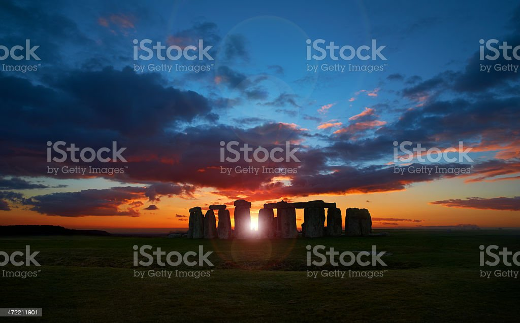 Stonehenge At Sunset stock photo