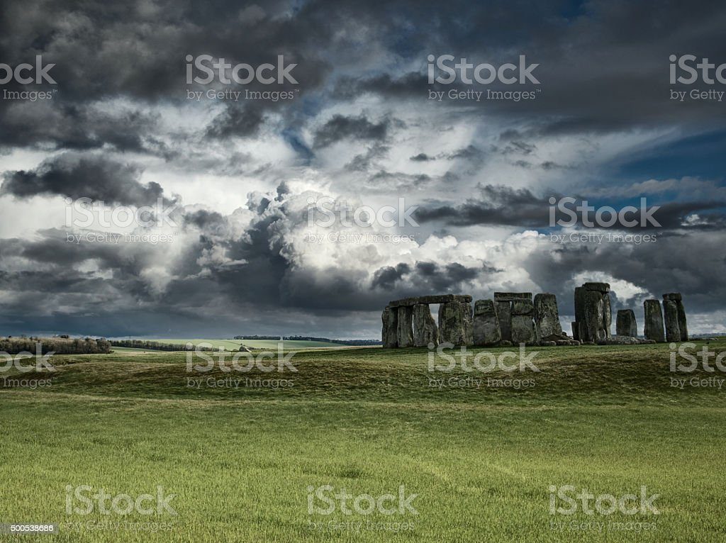 Stonehenge Composite stock photo