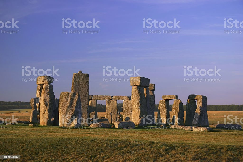 Stonehenge - England (7400) royalty-free stock photo
