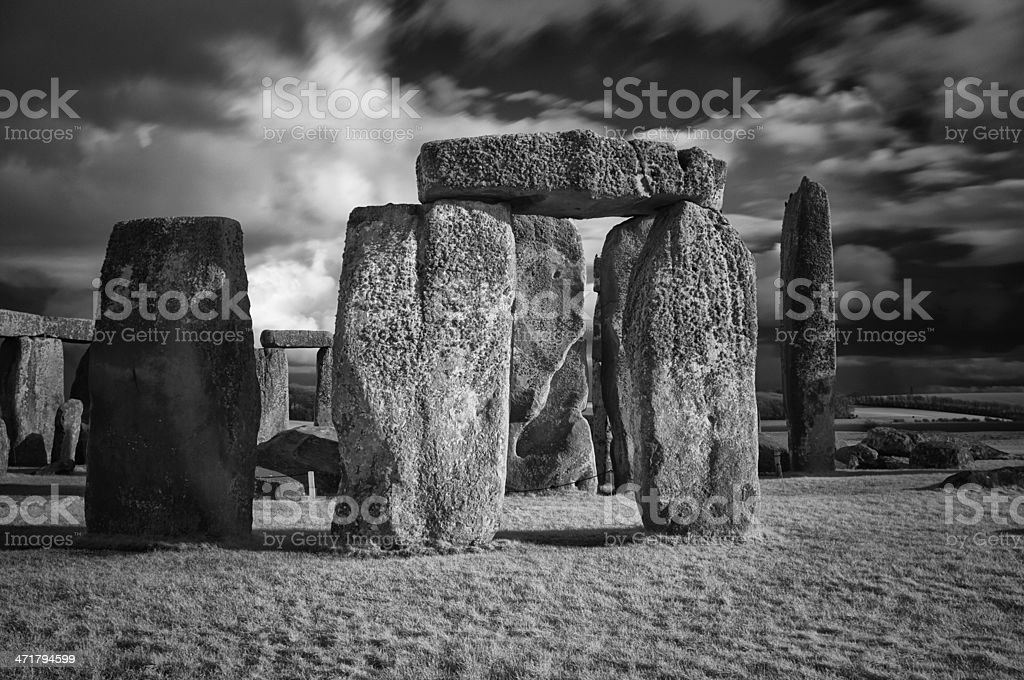 Stonehenge In Infrared royalty-free stock photo