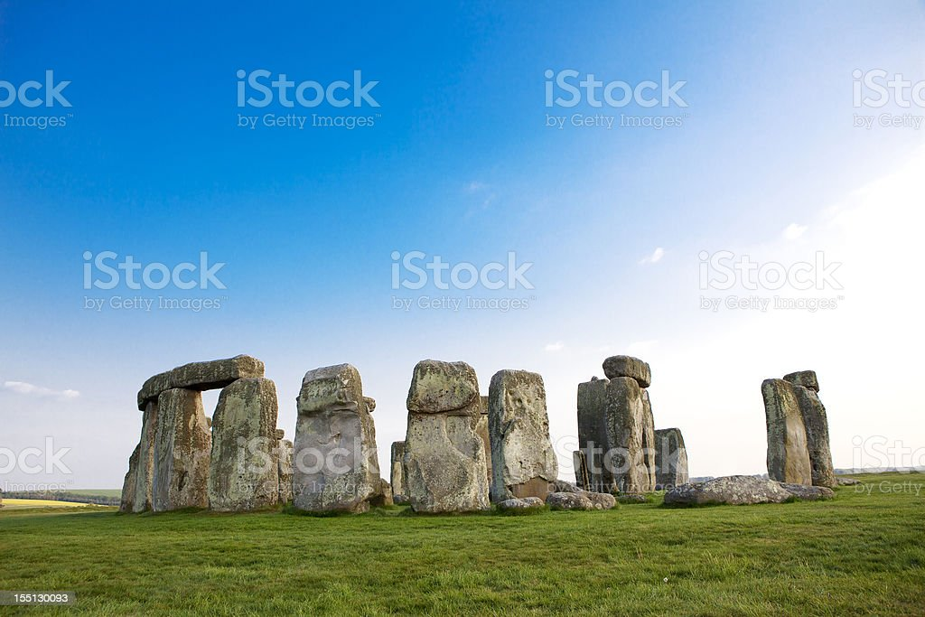 Stonehenge in the Spring stock photo